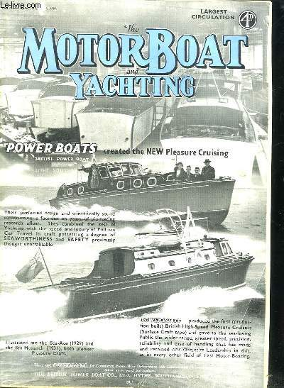 THE MOTOR BOAT AND YACHTING N° 1778. AUGUST 1938. HOX TO BUIL A 20 FT HALF DECKER. A NEX RACE MARK. TEXTE EN ANGLAIS.