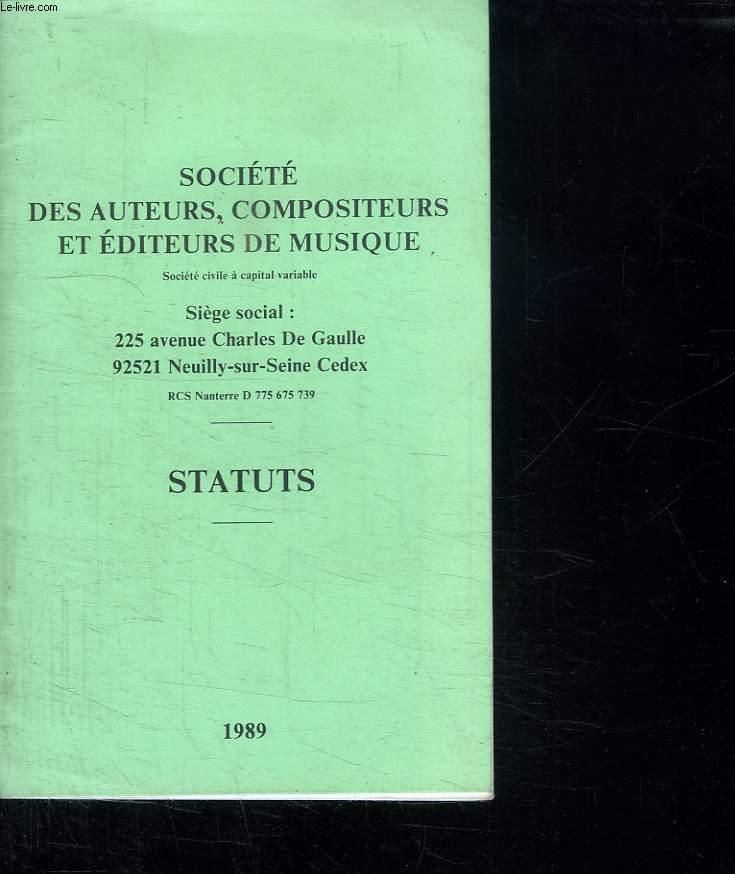 SOCIETE DES AUTEURS COMPOSITEURS ET EDITEURS DE MUSIQUE.