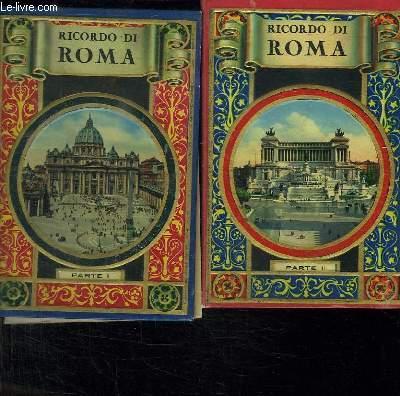 2 TOMES. RICORDO DI ROMA. TEXTE EN ITALIEN. FRANCAIS. ALLEMAND ESPAGNOL ANGLAIS.