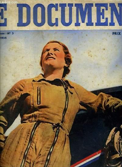 LE DOCUMENT N° 3 PREMIERE ANNEE. AVRIL 1935. SOMMAIRE: LA FEMME FRANCAISE, L USINE EST UNE RUCHE, LES GRANDS MAGASINS OU LE PARADIS RETROUVE,