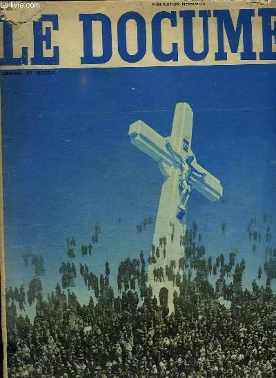 LE DOCUMENT JANVIER 1936. SOMMAIRE: LES FORCES CATHOLIQUES DE LA FRANCE. LA JEUNESSE CONQUERANTE.LES FORCES SPIRITUELLES,