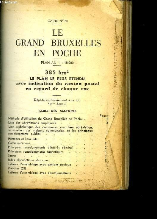 LE GRAND BRUXELLES EN POCHE. CARTE N° 50.