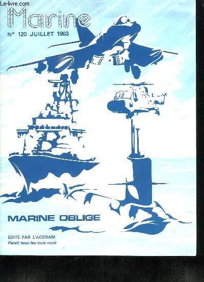 MARINE N° 120 JUILLET 1983. SOMMAIRE: ACTIVITES AU CENTRE D ENTRAINEMENT DE LA FLOTTE, SUR LES MERS DU GLOBRE, LES CHASSEURS DE MINES TYPE ERIDAN,  REGARDS SUR LES ILES DE LA SONDE...
