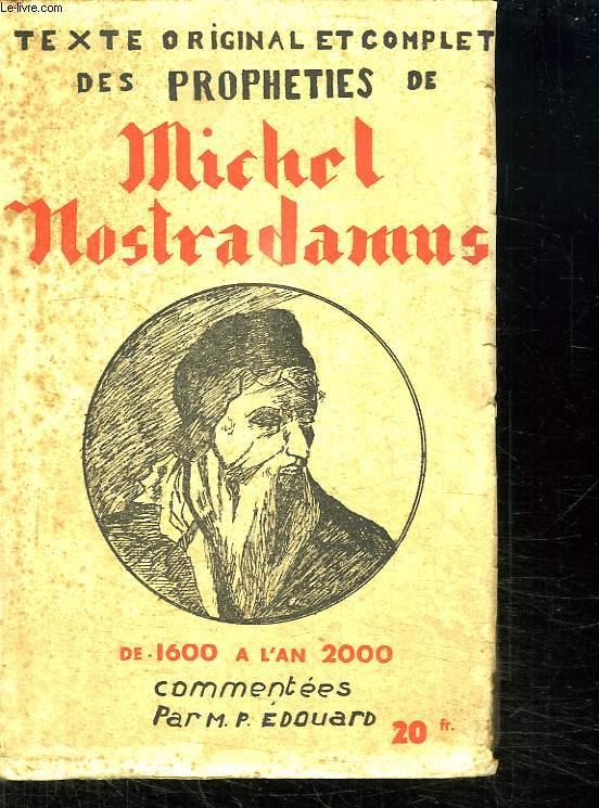 PROPHETIES DE MICHEL NOSTRADAMUS.