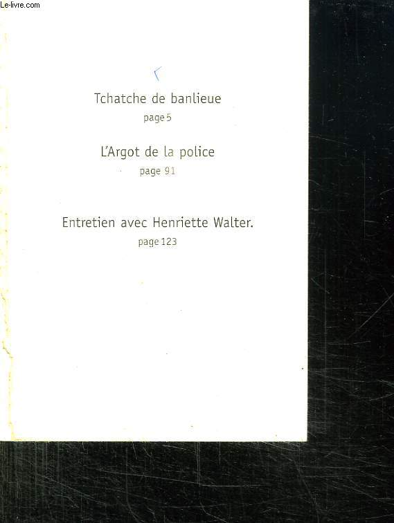 TCHATCHE DE BANLIEUE.