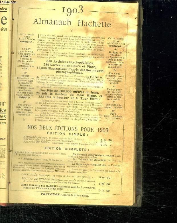 ALMANACH HACHETTE 1903.