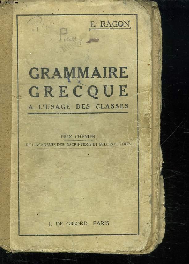 GRAMMAIRE GRECQUE.
