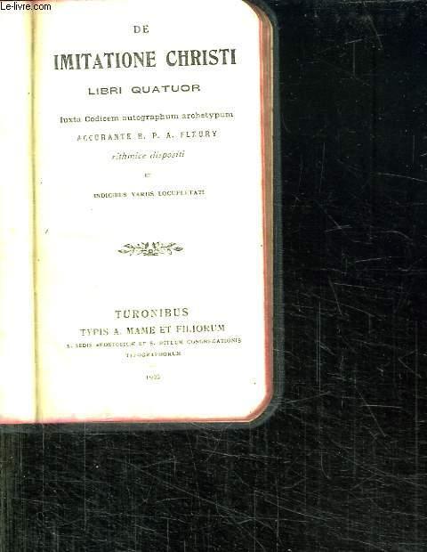 DE IMITATIONE CHRISTI LIBRI QUATUOR. N° 1512