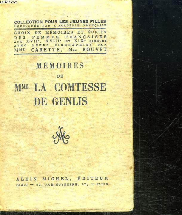 MEMOIRES DE  MME LA COMTESSE DE GENLIS.