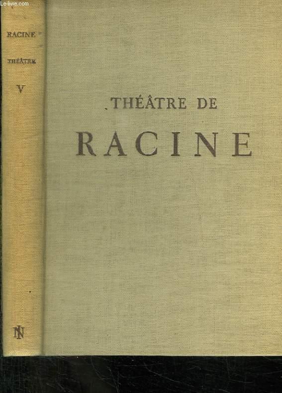 THEATRE DE RACINE. TOME V. ATHALIE