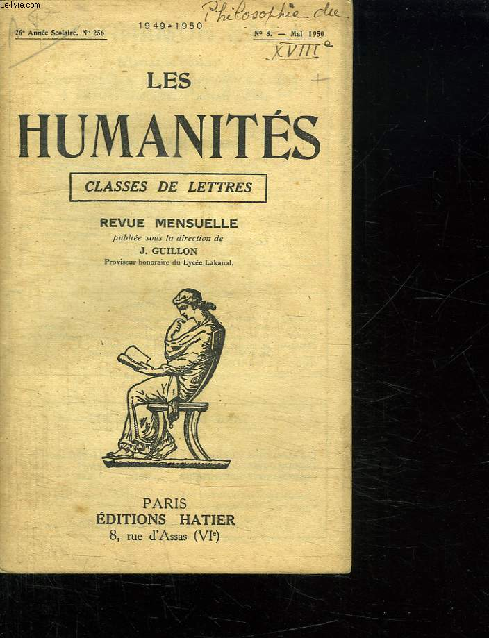 LES HUMANITES. CLASSES DE LETTRES. N° 8 MAI 1950.