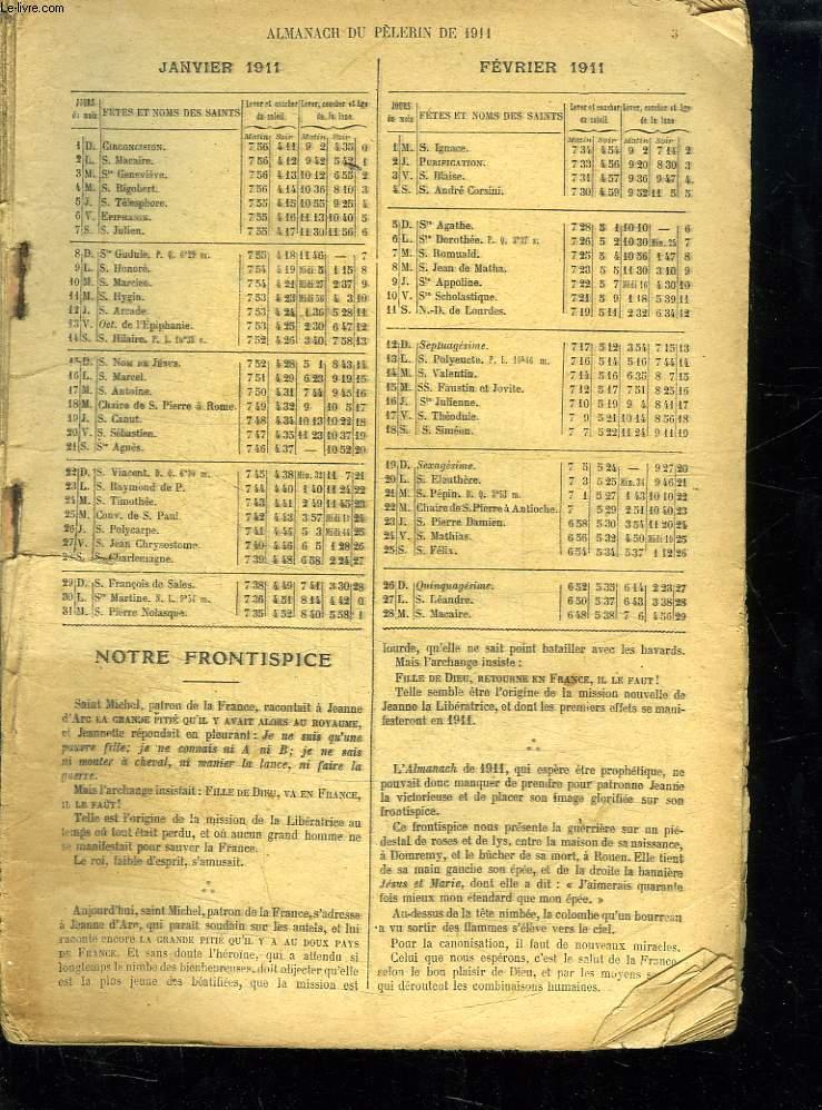 ALMANACH DU PELERIN 1911.