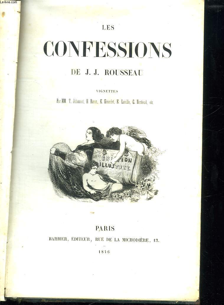 2 tomes. les confessions.