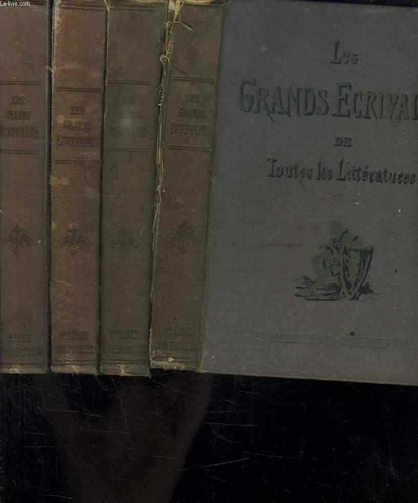 LES GRANDS ECRIVAINS DE TOUTES LES LITTERATURES. PREMIERE SERIE. TOME 1, 2, 3 et 4. MARIVAUX. SENEQUE. DICKENS. SOUMET. REBOUL BOSSUET...