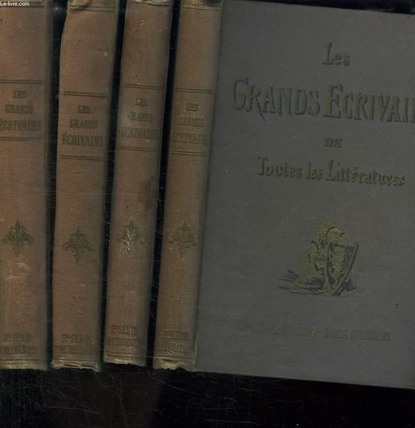 LES GRANDS ECRIVAINS DE TOUTES LES LITTERATURES. CINQUIEME SERIE TOME 1, 2, 3 ET 4.