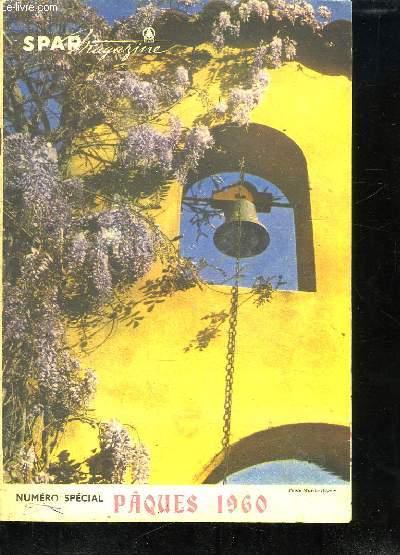 SPAR MAGAZINE N° SPECIAL PAQUES 1960. SOMMAIRE: UNE BONNE RECETTE TYPIQUEMENT DANOISE, SAVOIR ACHETER LA VIANDE DE BOEUF, LE TOUR DU MONDE EN 80 JOURS, POUR DES JAMBES IMPECCABLES...
