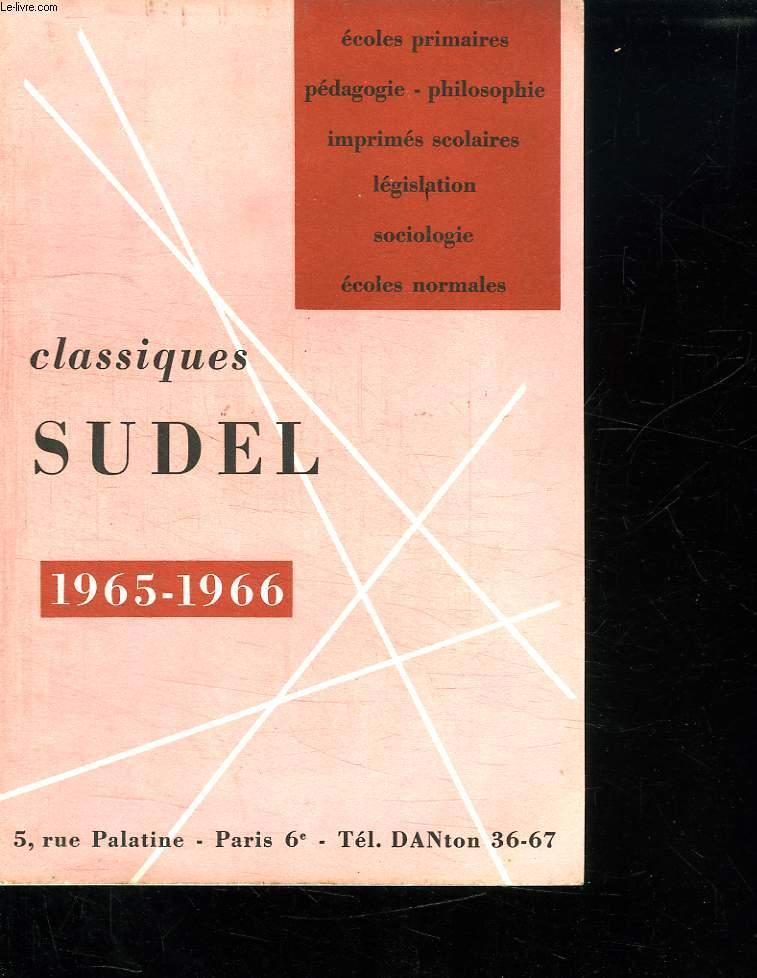 CATALOGUE. CLASSIQUES SUDEL 1965 - 1966.