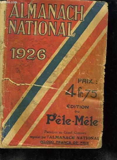 ALMANACH NATIONAL 1926.