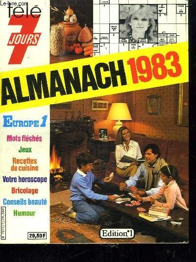 ALMANACH 1983 TELE 7 JOURS.