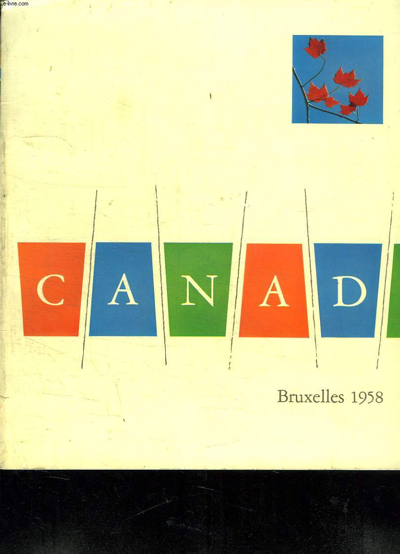 CANADA. BRUXELLES 1958.
