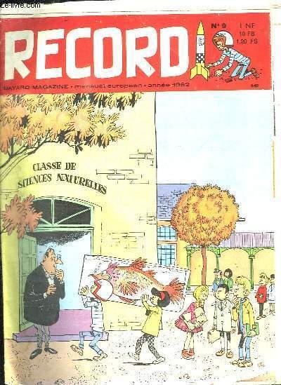 RECORD N° 9 ANNEE 1962.
