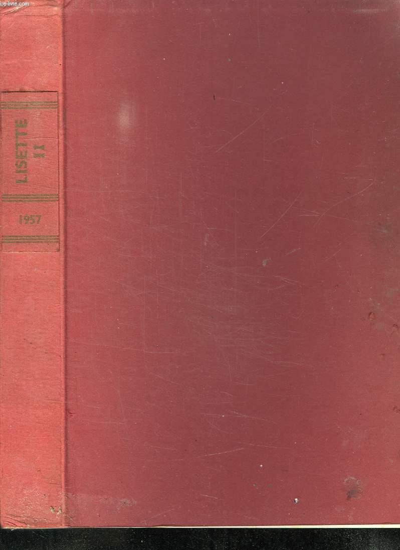 ALBUM LISETTE. DU N° 27 JUILLET 1957 AU 52 DECEMBRE 1957.