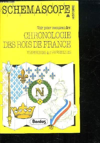 VOIR POUR COMPRENDRE. CHRONOLOGIE DES ROIS DE FRANCE. EMPEREURS ET PRESIDENTS.