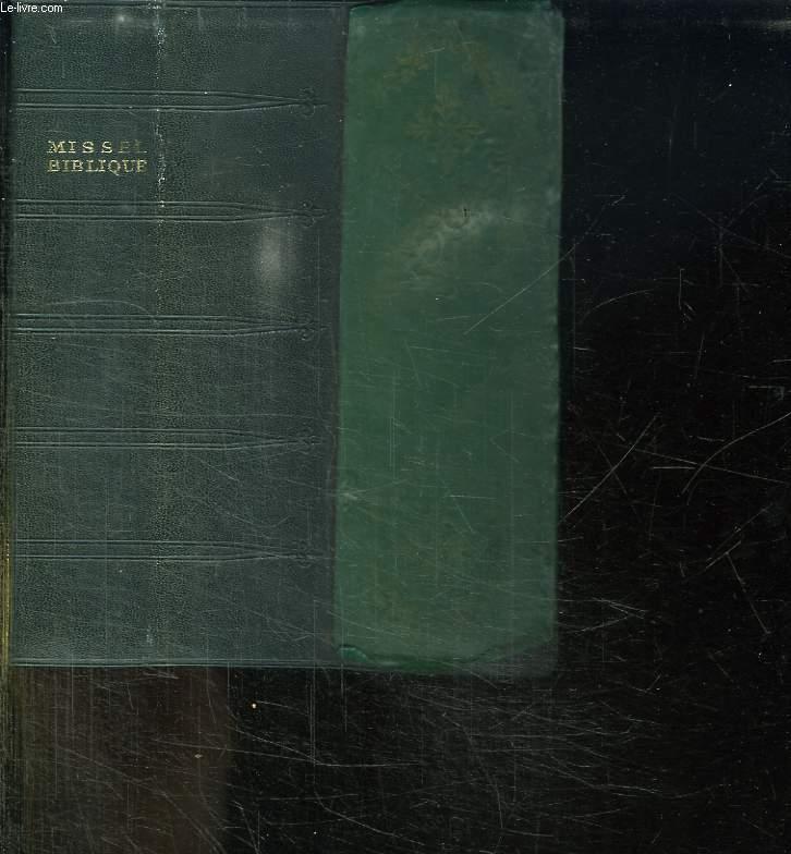 MISSEL BIBLIQUE DE TOUS LES JOURS. VESPERAL ET RITUEL.