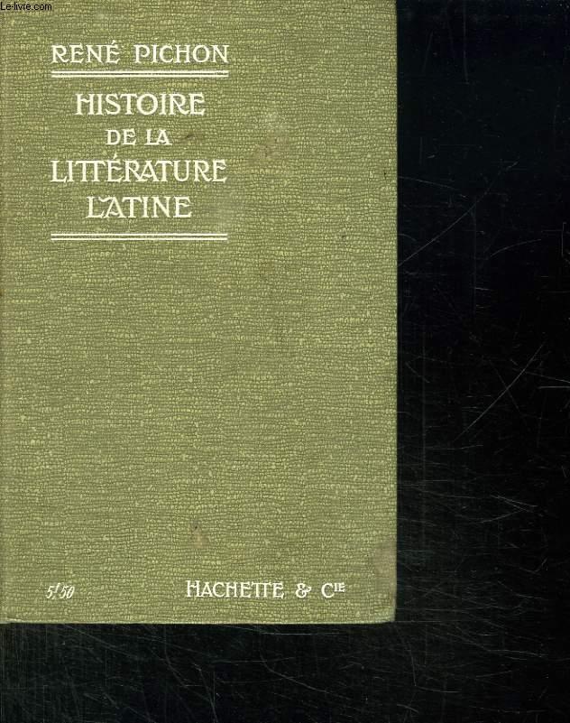 HISTOIRE DE LA LITTERATURE LATINE.4em EDITION REVUE.