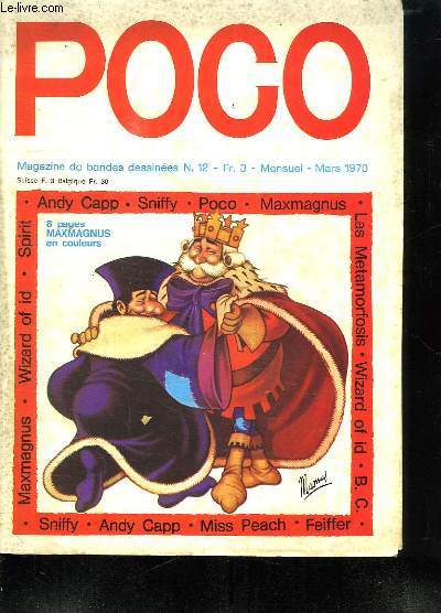 POGO N° 12. MARS 1970. SOMMAIRE: BAMBI PAR PIERRE COUPERIE. LES ECHOS DE POCO. IL ETAIT UNE FOIS UN ROI PAR JEAN PIERRE LE GUILLY.
