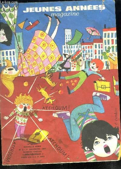 JEUNES ANNEES MAGAZINE N° 2 . 15EM ANNEE 1 DECEMBRE 1967.