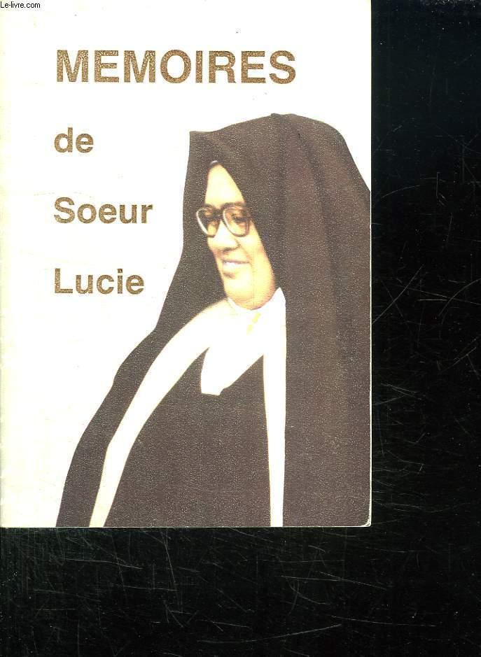 MEMOIRES DE SOEUR LUCIE.