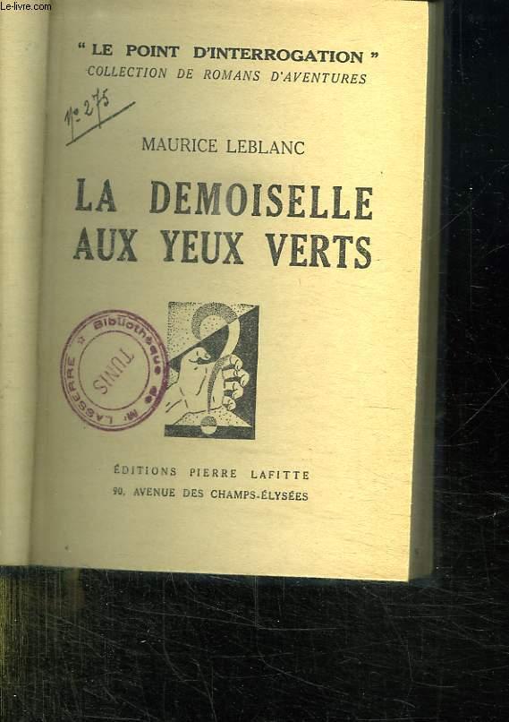 LA DEMOISELLE AUX YEUX VERTS.