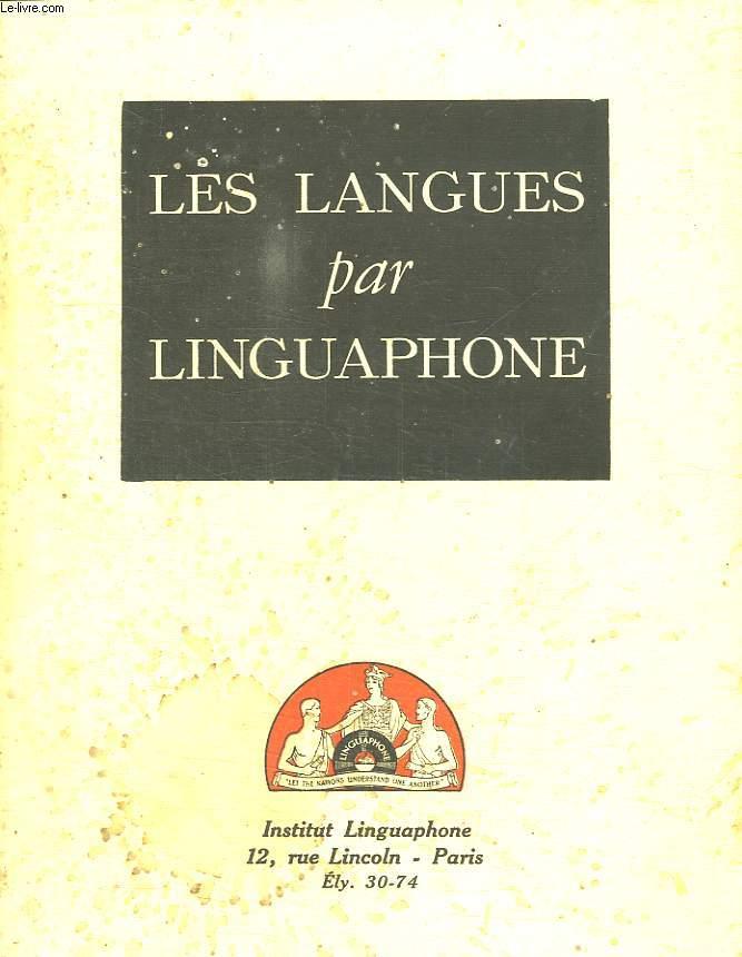 LES LANGUES PAR LINGUAPHONE.