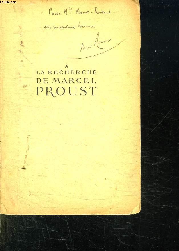 A LA RECHERCHE DE MARCEL PROUST AVEC DE NOMBREUX INEDITS.