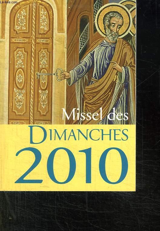 MISSEL DES DIMANCHES 2010.
