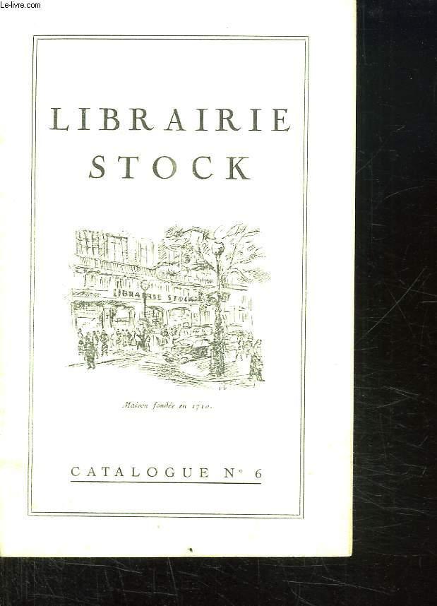 LIBRAIRIE STOCK CATALOGUE N° 6.
