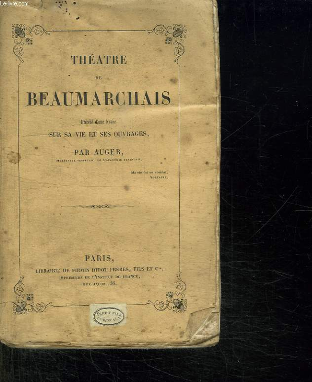 THEATRE DE BEAUMARCHAIS.