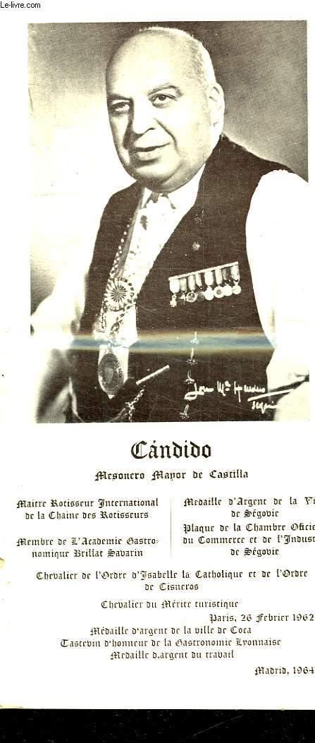 BROCHURE DEPLIANTE. CADIDO.MESONERO MANOR DE CASTILLA.