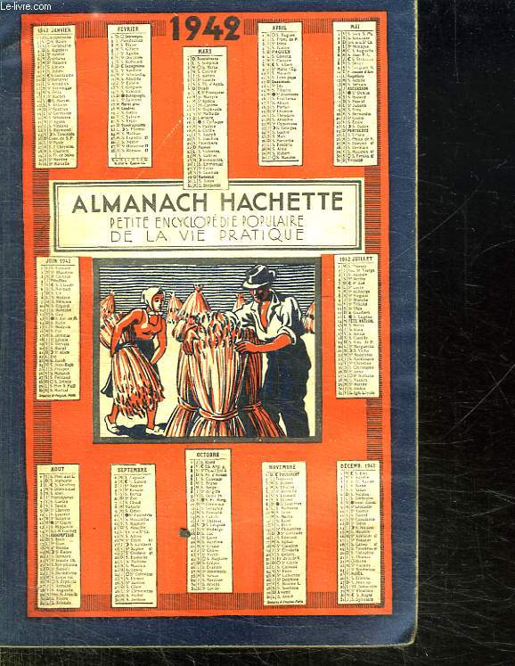 ALMANACH HACHETTE 1942.