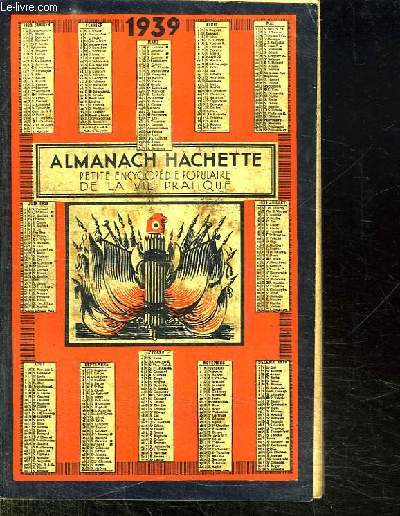 ALMANACH HACHETTE 1939.