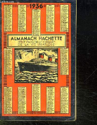 ALMANACH HACHETTE 1936.