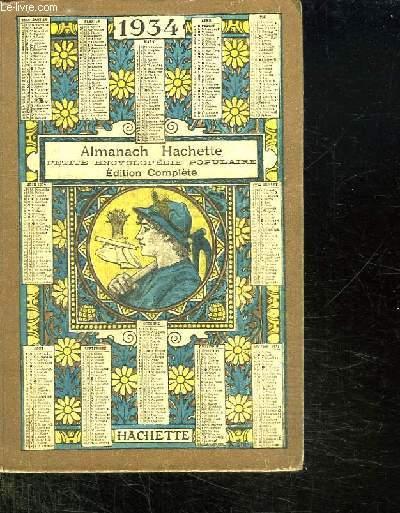 ALMANACH HACHETTE 1934.