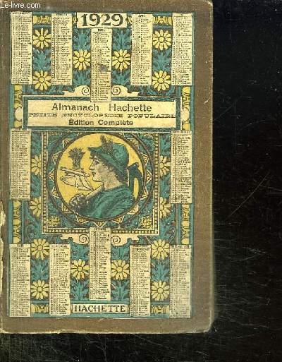 ALMANACH HACHETTE 1929.
