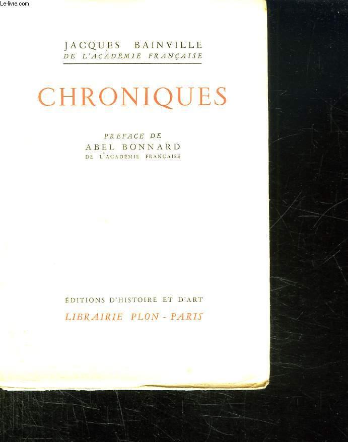 CHRONIQUES.
