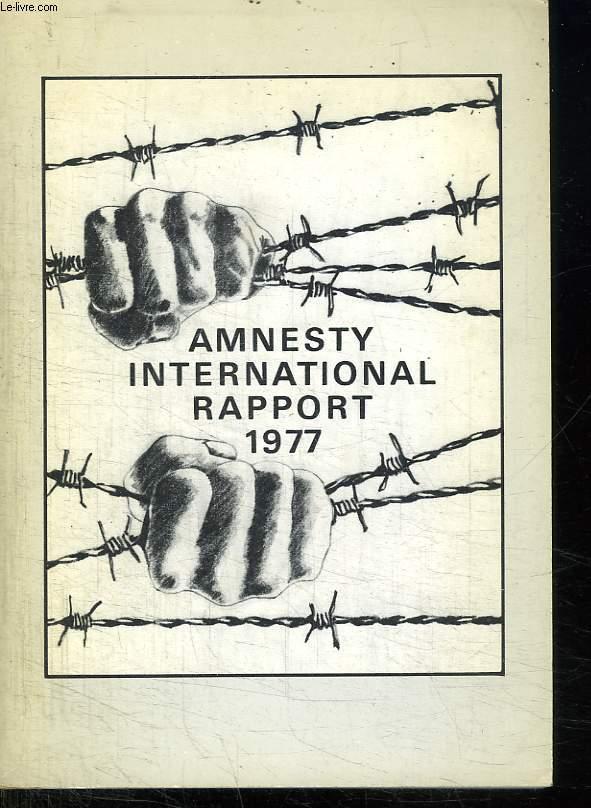 AMNESTY INTERNATIONAL RAPPORT 1977.