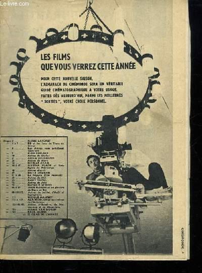 ALMANACH CINE MONDE 1962.