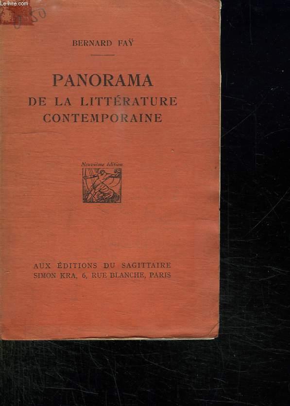 PANORAMA DE LA LITTERATURE CONTEMPORAINE.