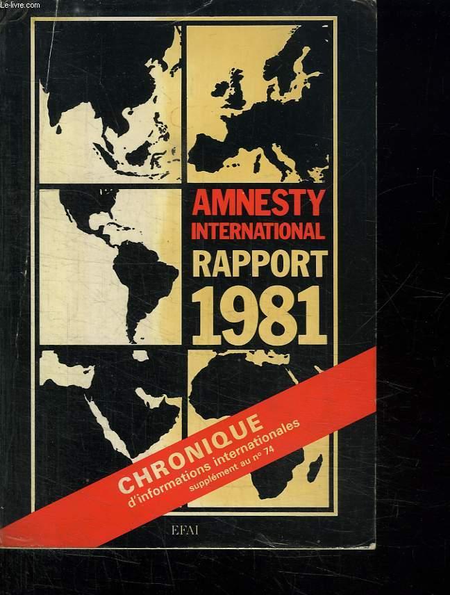 AMNESTY INTERNATIONAL RAPPORT 1981.