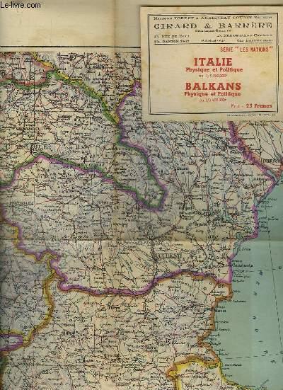 CARTES EN COULEURS DE L ITALIE ET DES BALKANS.